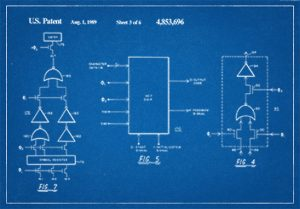 blue print of patent design