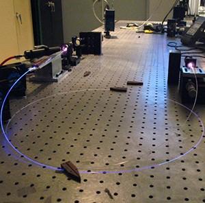 Fiber lasers inside UCF's CREOL lab.