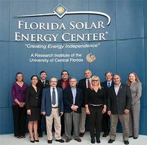 "Back Row, L-R: Dr. Janine Captain, Dr. Luke Roberson, Dr. Bobby DeVor, Dr. Gary Bockerman, Dr. Robert ""Bob"" Youngquist, Karen Thompson  Front Row, L-R: Dr. Nahid Mohajeri, Dr. Nazim Muradov, Dr. Ali Raissi, Dr. Martha Williams, Dr. Trent Smith"