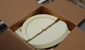 A high density foam cap used to create molds for the thermal insulation cap for gas water heaters