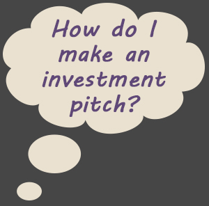 Thought cloud: How do I make an investment pitch?