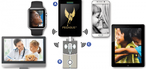 Pegasus device, sensor and mobile devices